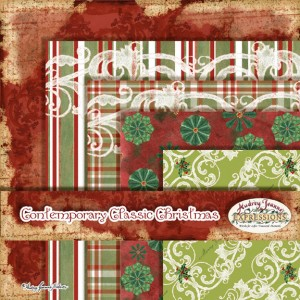 Audrey Jeanne Roberts, Contemporary Classic Christmas Paper Pack 1