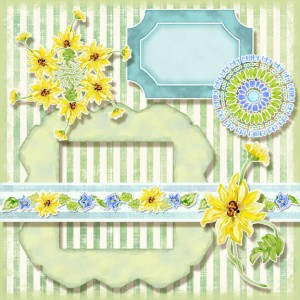 audrey jeanne roberts, sunflower, wildflower, whimisical clip art