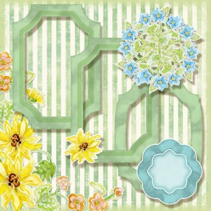 digital clip art, sunflower and wildflower paper, frames, flower circle