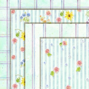 aqua version wildflower sonata digital clip art paper pack
