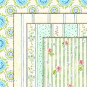 wildflower sonata digital clip art paper pack