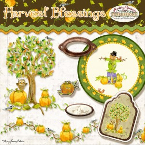 harvest, fall, autumn, halloween, thanksgiving, pumpkins, scarecrow, tree, owl clip art