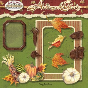 autumn, fall, digital clip art kit, audrey jeanne roberts, pumpkins, squash, leaves, harvest