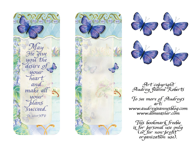 smajr-bookmark-blue-butterfly-collage1