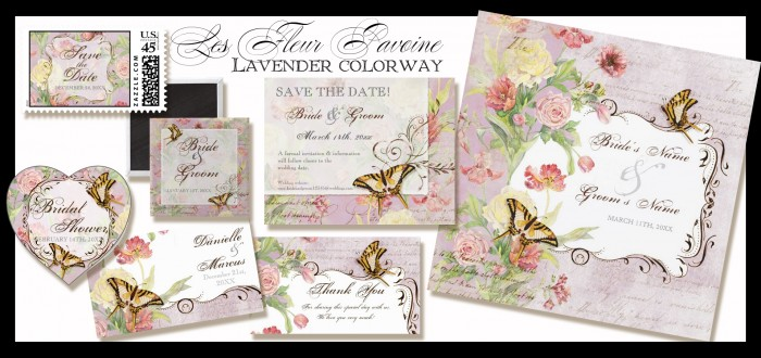 Peony Floral in Lavender with Butterflies, Roses, Tulips & Poppies